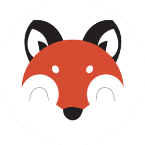 Fox & Monocle Logo Round Fox Face 300px