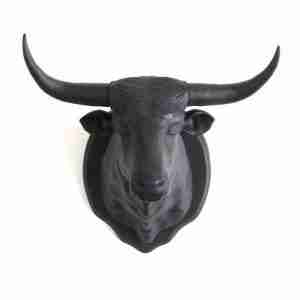 Black Longhorn Bull Magnetic Wall or Fridge Hook by FCTRY