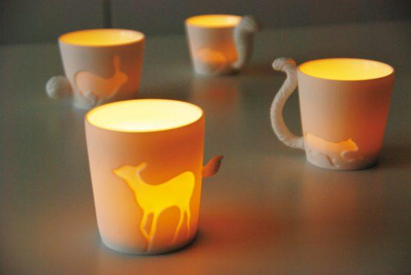 Mugtail Fox in Fine Porcelain by Kinto Japan