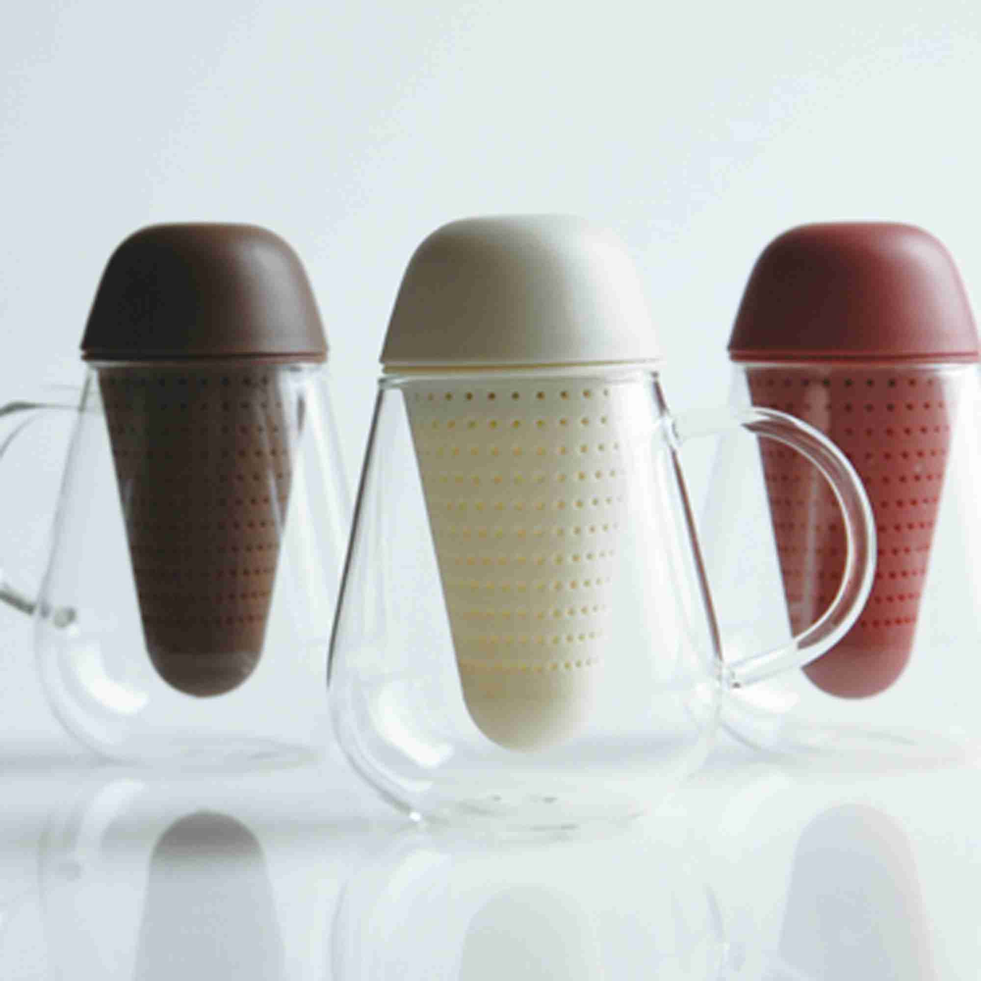 Pengy Fine Glass Teapot with Filter by Kinto Japan