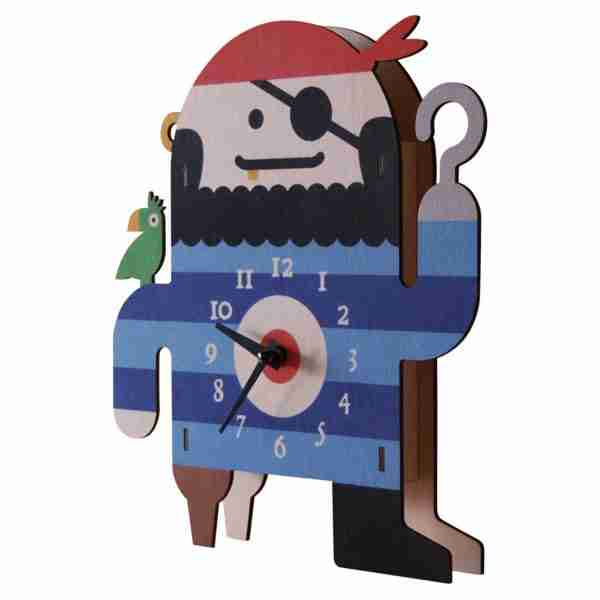 Popclox Pirate 3D Art Clock by Art Thingys