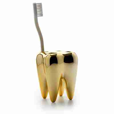 Golden Tooth - Toothbrush Holder by Propaganda