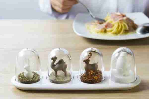 Four Way Animals Spice Shakers by Qualy