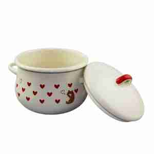 Relaxing Bear Enamel Cooking Pot 16cm by Decole