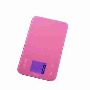 Kitchen Scales with Timer - Pink