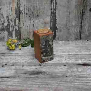 Smokestack 4 inch Single Candleholder by Peg & Awl