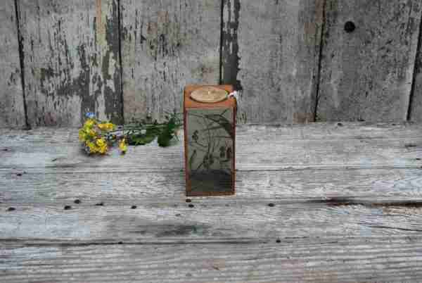 Smokestack 4 inch Single Candleholder by Peg & Awl