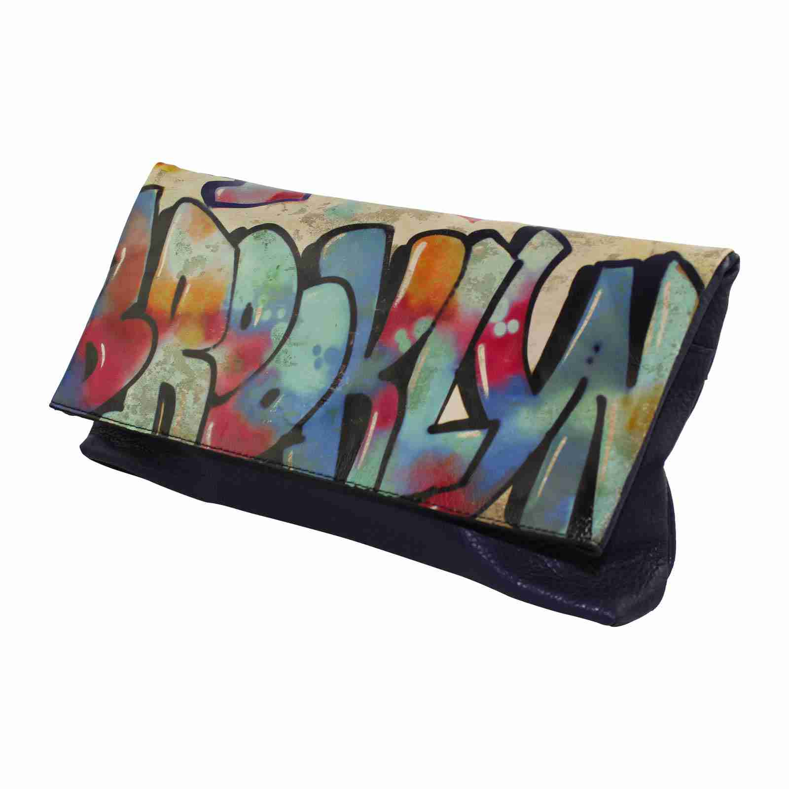 Brooklyn Grafitti Photo Clutch by Studio Manhattan