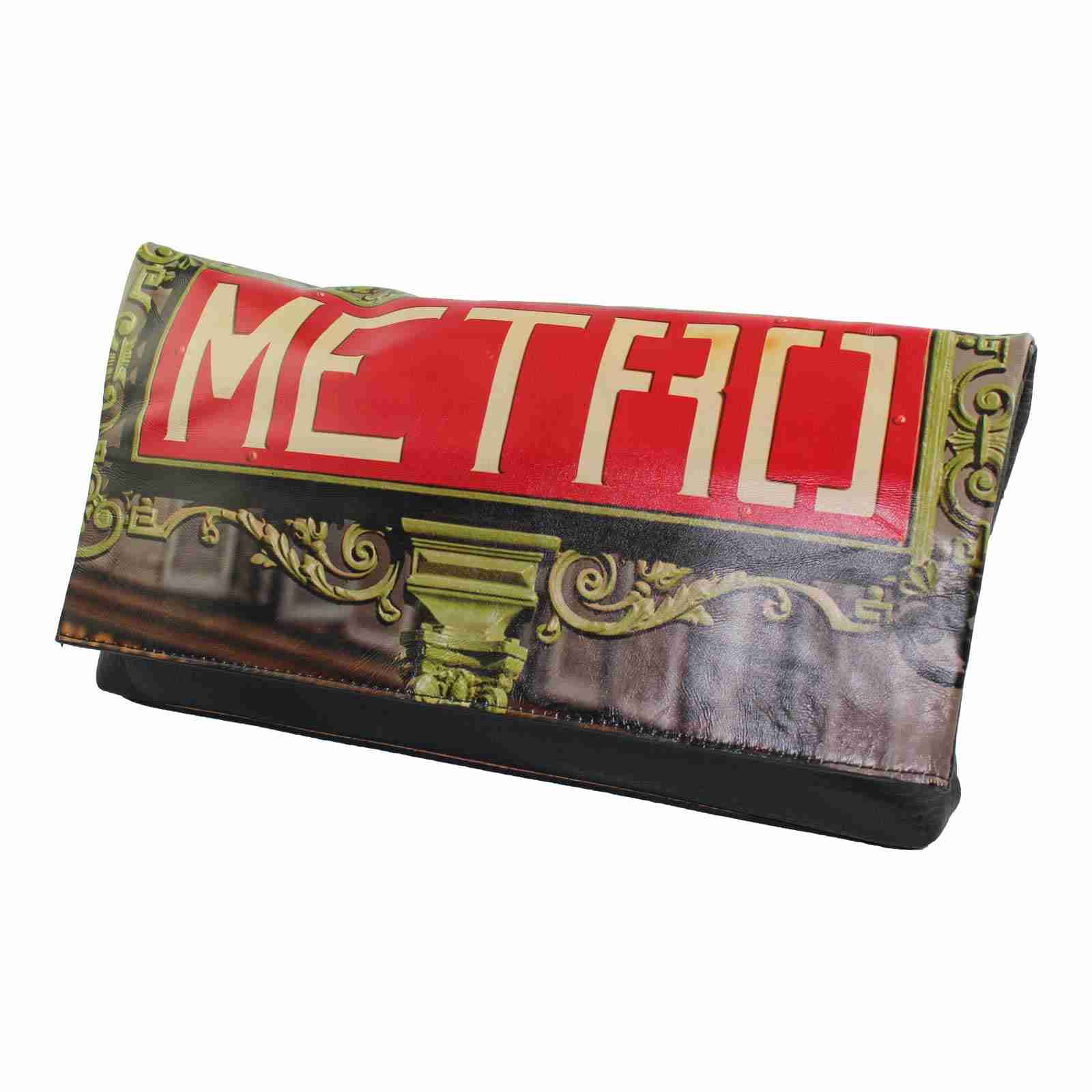 Paris Metro Photo Clutch by Studio Manhattan