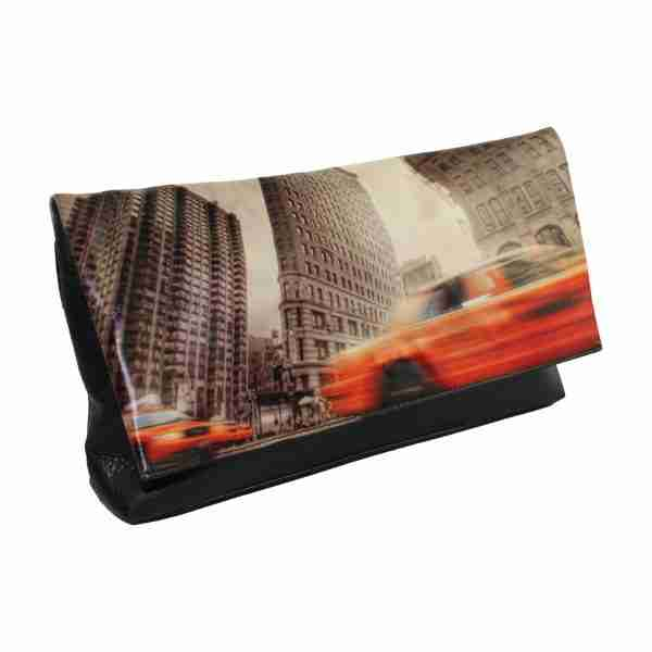 New York Cabs Photo Clutch by Studio Manhattan