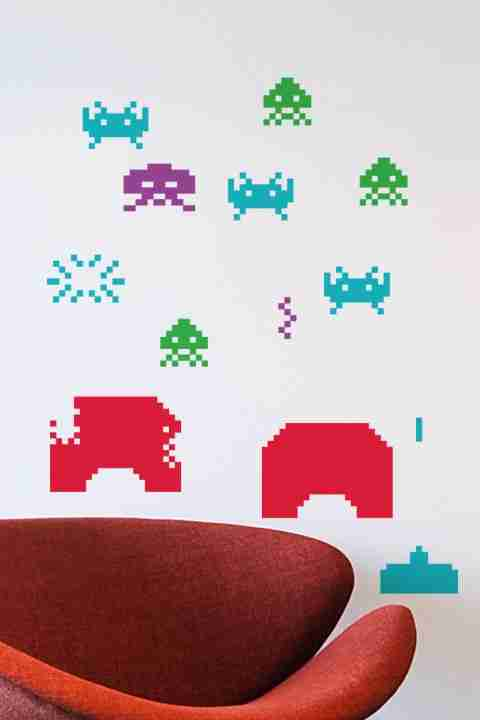 Taito Space Invaders Re-Stik Wall Sticker