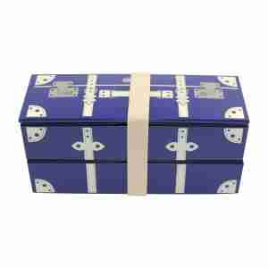 Vintage Trunk Bento Lunch Box - Navy