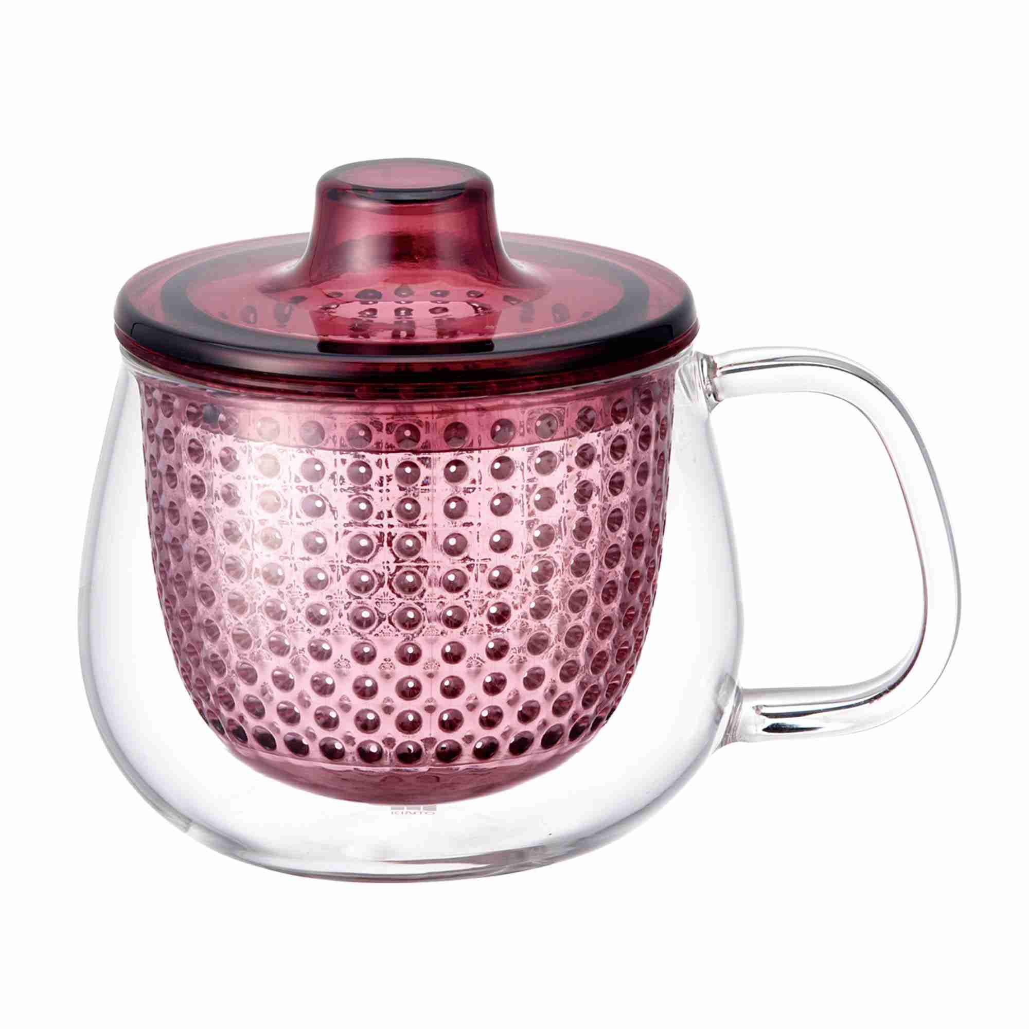 UNIMUG Glass Teapot and Mug in Red by Kinto Japan