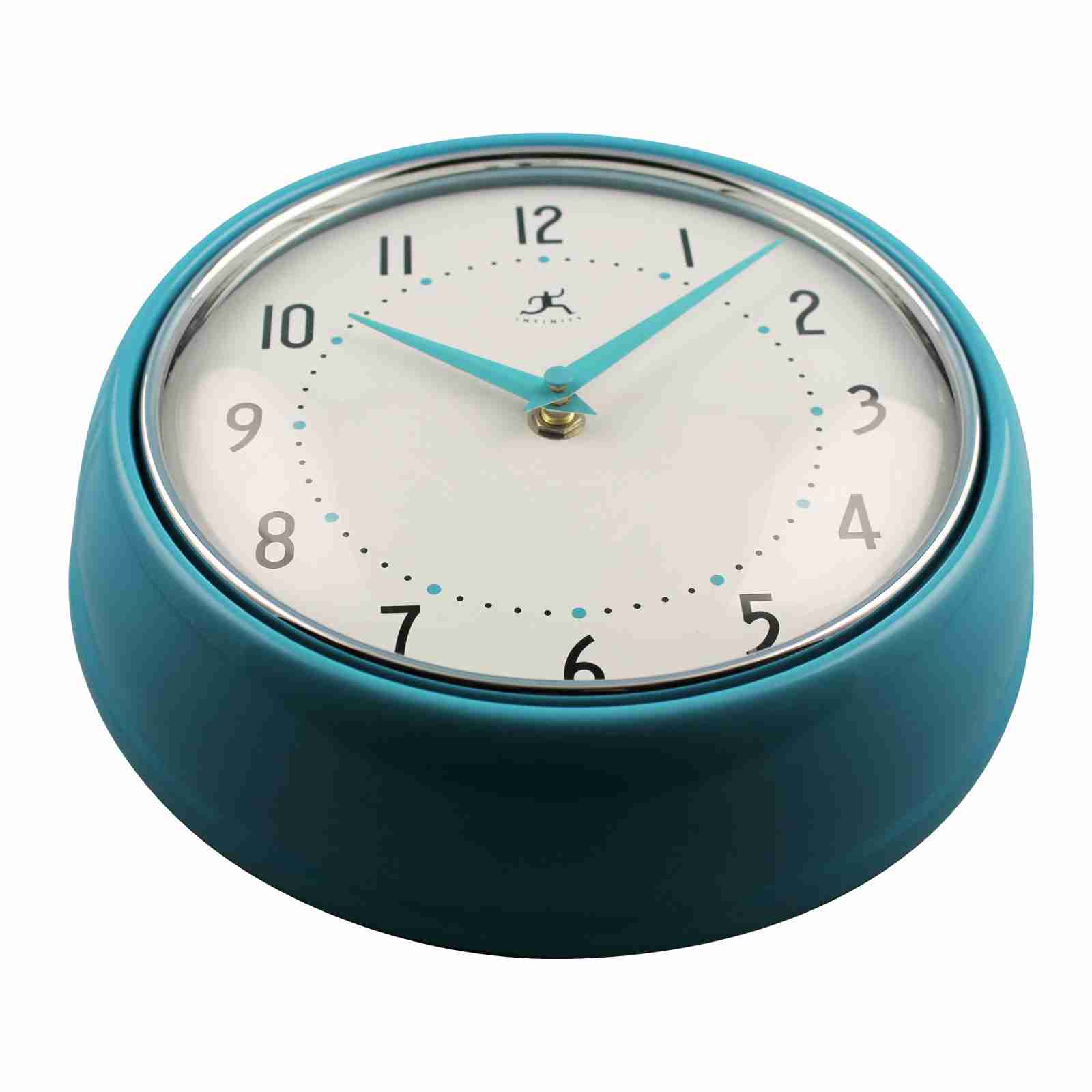 Turquoise Retro Wall Clock by Infinity