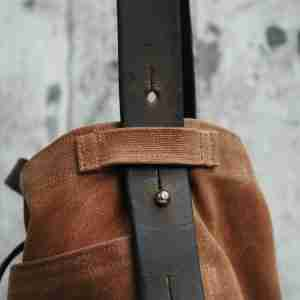 Waxed Canvas Tote from Reclaimed Leather by Peg & Awl (Spice)