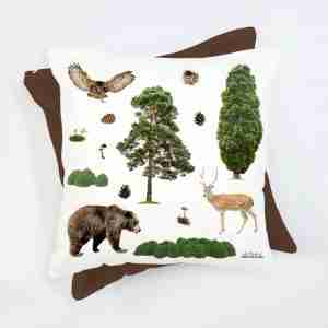 Woodlands Cushion with Insert by Club of Odd Volumes