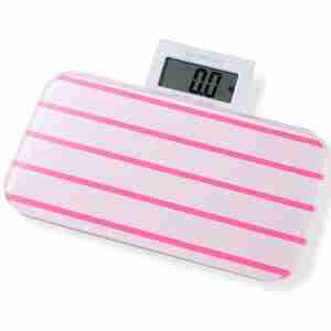 Bathroom Scales: Pattern Range - Line Pink