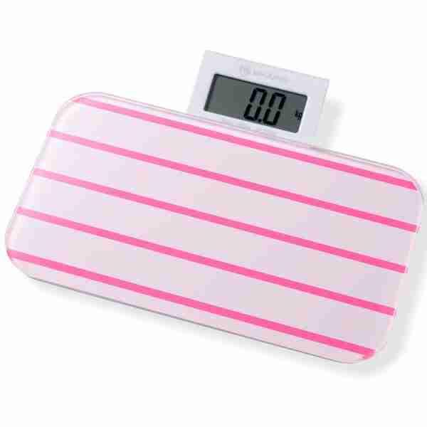 Bathroom Scales: Pattern Range - Line Pink