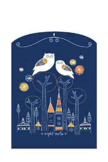 The Night Owls at Window Wall Sticker by Designer Amy Ruppel