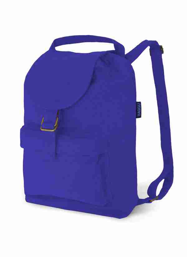 Baggu Cobalt Cotton Canvas Backpack with Pockets