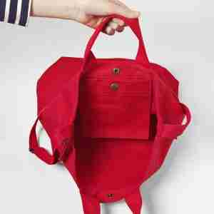 Baggu Cotton Duck Tote Bag with Strap Red