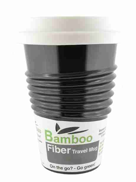 Eco Bamboo Fibre Mug (Black) - Made by Humans