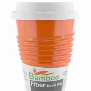 Eco Bamboo Fibre Mug (Orange) - Made by Humans