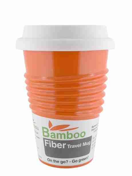 Eco Bamboo Fibre Mug (Orange) - Made by Humans