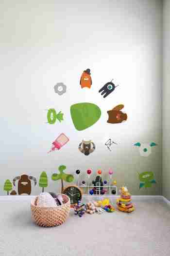 Babybot Build-a-Bot Re-Stik Wall Sticker