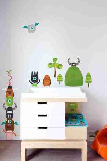 Babybot Build-a-Bot Re-Stik Wall Sticker