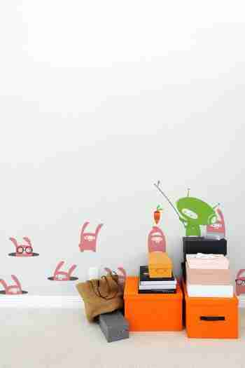 Babybot Dangly Carrot Wall Sticker