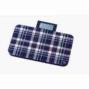 Bel Colore Personal Portable Scales: Fashion Range - Check Navy