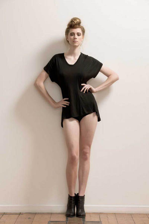 Paneled Soft Bamboo T-shirt by Maytide - Black