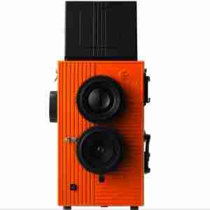 Blackbird Fly Retro 35mm Twin Lens Reflex Camera: Orange