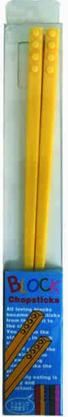 Block Chopsticks - Yellow