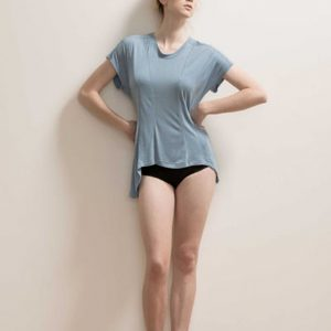 Paneled Soft Bamboo T-shirt by Maytide - Blue