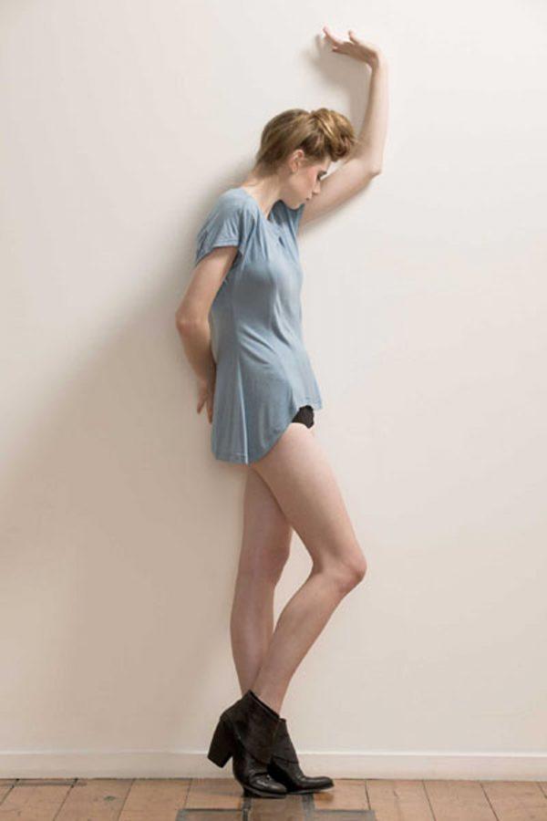 Paneled Soft Bamboo T-shirt by Maytide - Blue