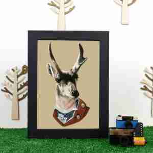 Ryan Berkley Well Dressed Buck Framed Print Wall Art