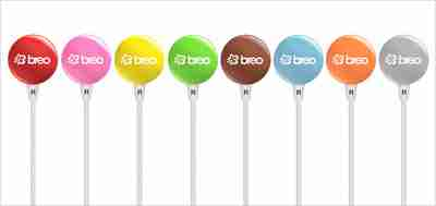 Candy Drop Noise Reducing Earphones by Breo in Pink