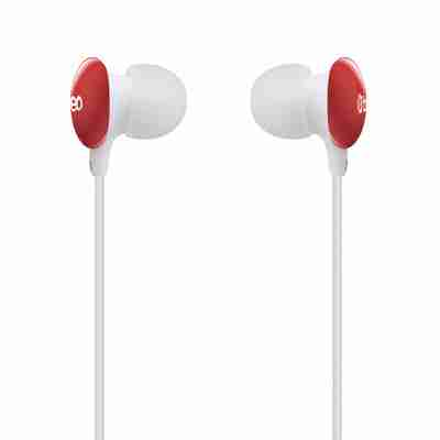 Candy Drop Noise Reducing Earphones by Breo in Red