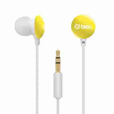 Candy Drop Noise Reducing Earphones by Breo in Yellow