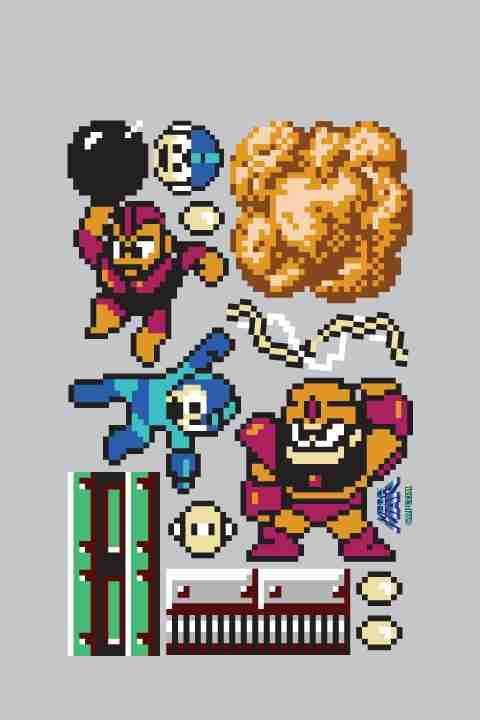Capcom Mega Man Re-Stik Wall Sticker