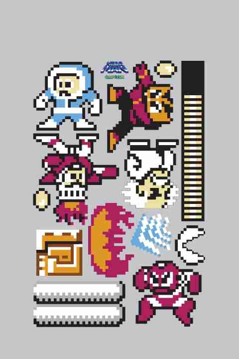 Capcom mega man re stik wall sticker