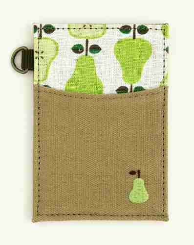 Wallet/Pouch for Filing Business Cards: Pear Design