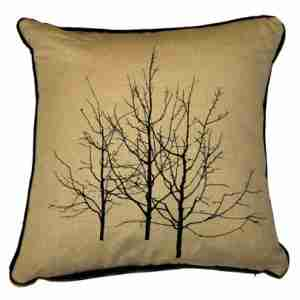 Branches and Twigs - Hand Printed Cotton/Linen Cushion