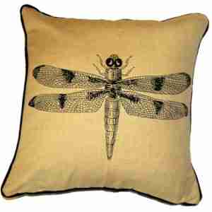 Dragonfly - Hand Printed Cotton/Linen Cushion