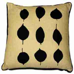 Leaves - Hand Printed Cotton/Linen Cushion