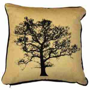 Tree - Hand Printed Cotton/Linen Cushion