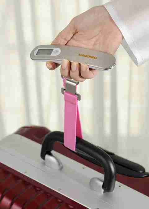 Luggage Checker - Hand Held Portable Scales in Silver/White/Pink