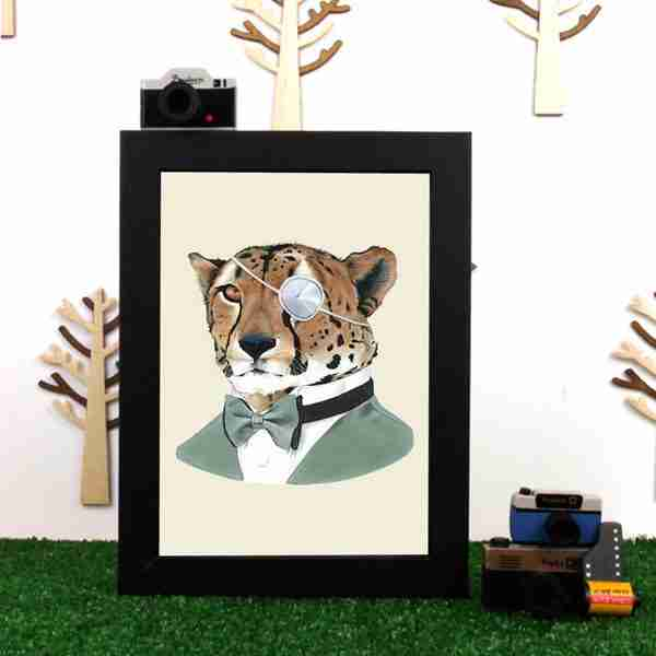 Ryan Berkley Well Dressed Cheetah Framed Print Wall Art